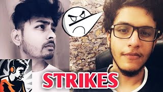 Dynamo Gaming And Triggered Insaan Get STRIKES | Live Insaan, Angry Prash | PUBG Mobile New Update |