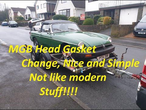 1976 MGB Head Gasket Change. Old School Simplicity...