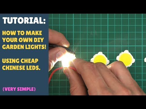 TUTORIAL: How to Make Your Own Basic DIY Garden Lights!