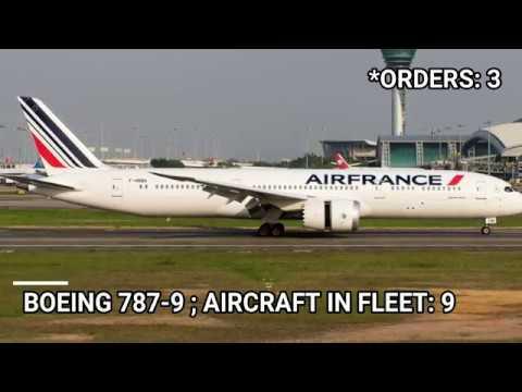 Air France fleet as of July 2019