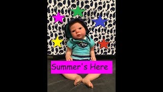 Changing Reborn Baby Carson Into Summer Outfit!!