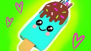 DIY Kawaii Pencil Case - Ice Cream Bar