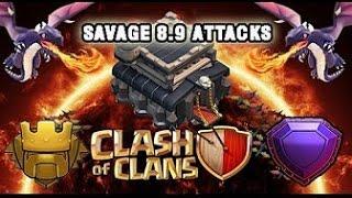 TH9 VS TH11 Legend Attacks Clash of Clans