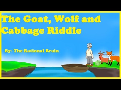 The goat, wolf and cabbage riddle. Brain teasers mind tricks