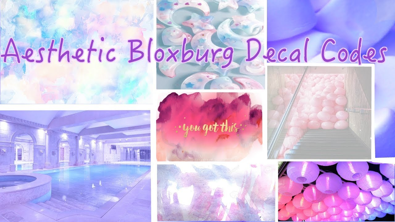 Aesthetic Bloxburg Decals Watercolour Inspirational Quotes