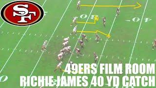 49ers Film Room | Richie James 40 Yd Catch vs Redskins