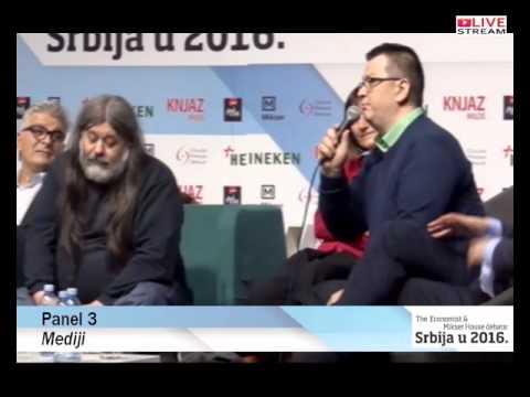 The Economist & Mikser House debata: Srbija u 2016 - Panel 3 - Mediji
