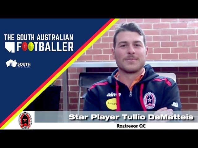 SA Adelaide Footballer 23-1: Club Legend of the Week - Rostrevor OC Star Player Tullio DeMatteis