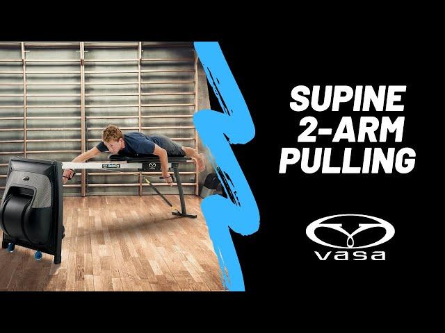 Supine 2-Arm Pulling on the Vasa SwimErg