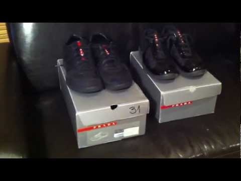 buy prada handbag online - Prada Sneakers Real vs Fake Side by Side/How to tell Authenticity ...