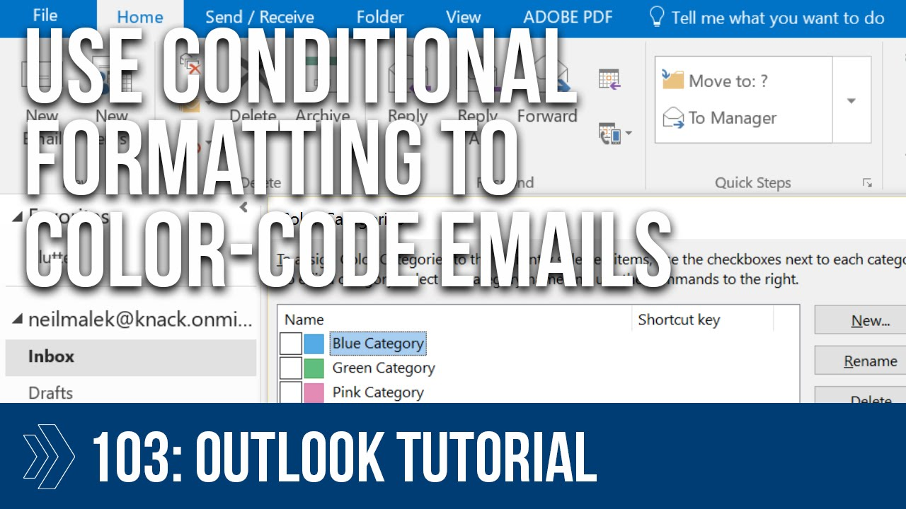 How to color inbox in outlook - Microsoft Outlook Conditional Formatting Rules