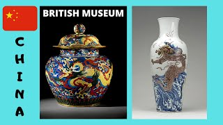 THE BRITISH MUSEUM: The CHINA EXHIBIT, looted priceless treasures from 5,000BC