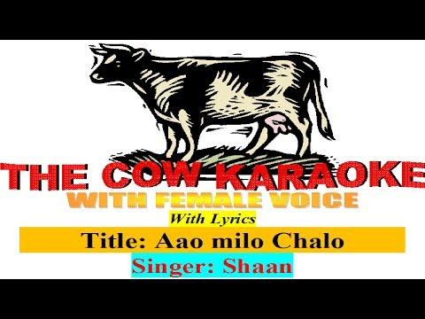 aao milo chalo jab we met Shaan  karaoke For male Singer