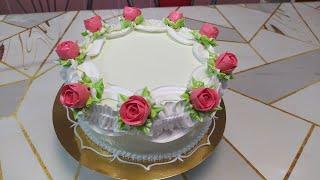 Очень простое украшение торта. Находка для начинающих тортоделов.