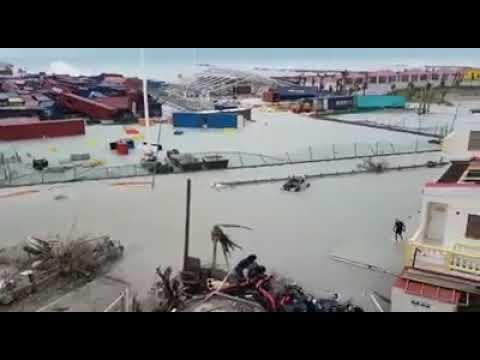 The port of Sint Maarten (completely gone!)