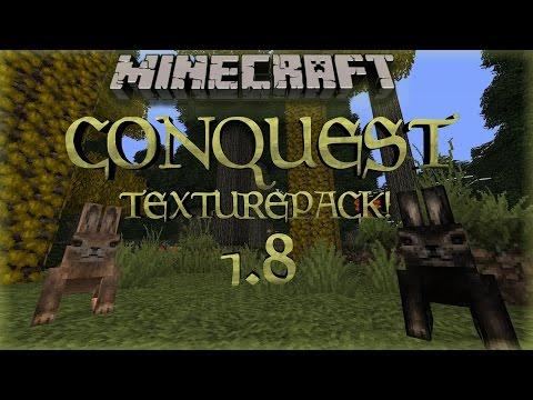 Minecraft Conquest 1.8 Texturepack Review x32