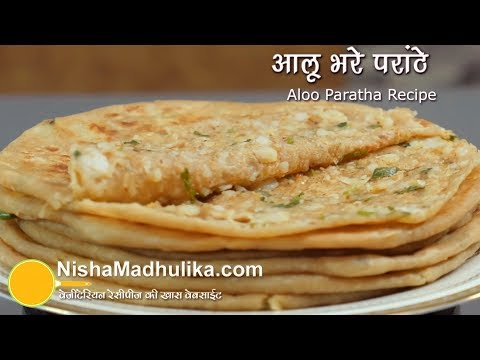 Aloo Paratha Recipe - Dhaba Style Punjabi Aloo Paratha - Potato Stuffed Paratha
