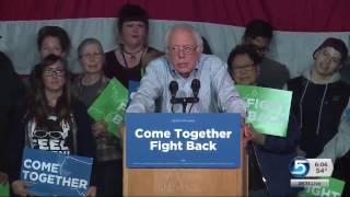 Senator Bernie Sanders returns to Salt Lake City as part of a nationwide tour