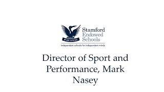 Director of Sport and Performance; Mark Nasey
