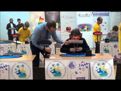 World record: Solving Rubik's Cube blindfolded