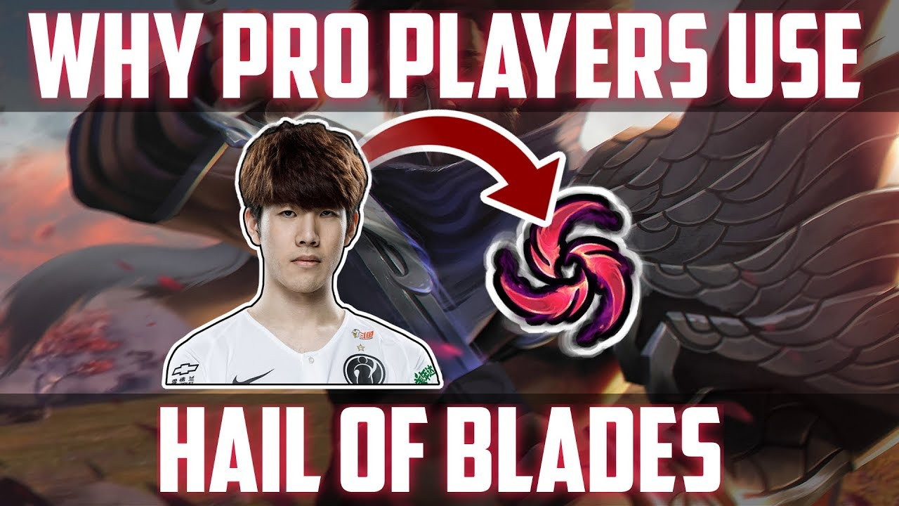 WHY PRO PLAYERS USE HAIL OF BLADES ON YASUO - Q COOLDOWN MAXED OUT LEVEL 1
