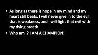 I am a Champion Motivational Lyrics