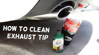 HOW TO CLEAN EXHAUST TIP. Amazing Results