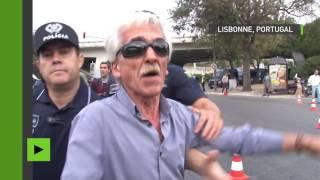 Uber : échauffourées entre la police et les chauffeurs de taxis devant l'aéroport de Lisbonne