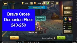 Brave Cross - Demonion Floor 240-250