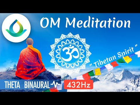 Om Chanting Meditation 432 Hz (POWERFUL) ◑ Tibetan Om Meditation Music | Binaural Beats