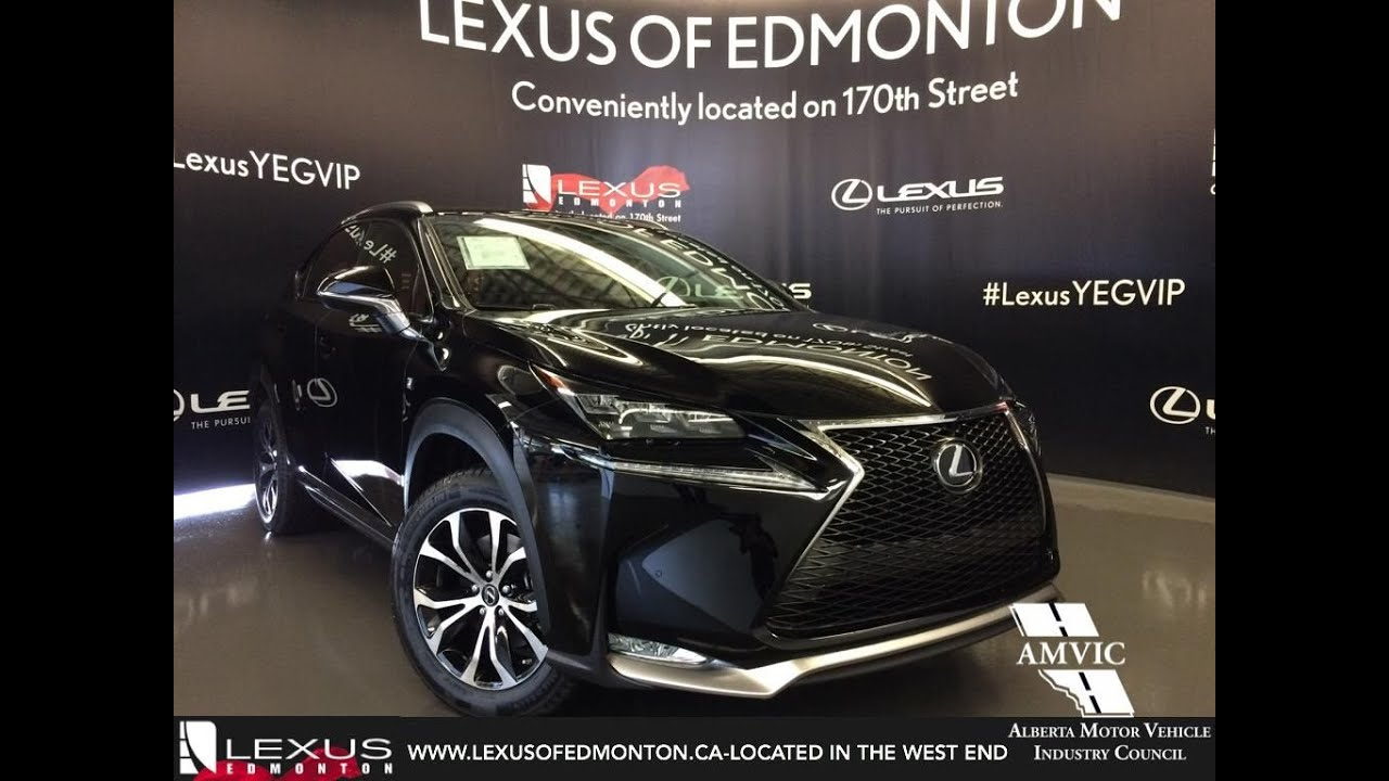 2016 black lexus nx 200t awd f sport series 3 in depth