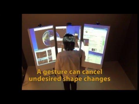 Design and Study of Shape-Shifting Wall Display (DIS'16)