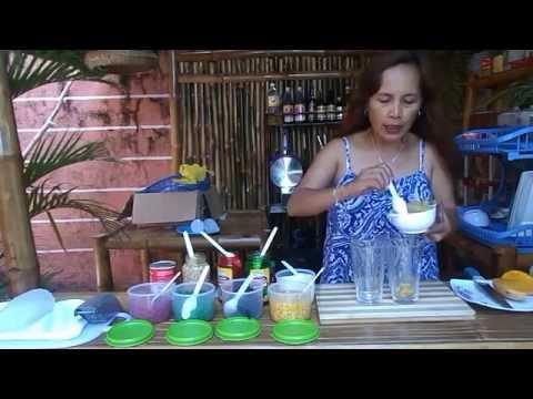 Making Halo-halo Special Filipino soft drink dessert