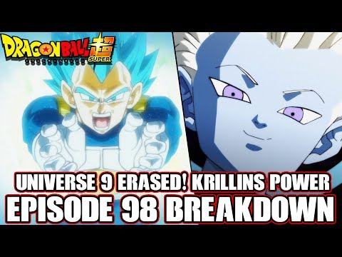 Dragon Ball Super Episode 99 Preview + Episode 98 Krillins True Power! Universe 9 Erased!