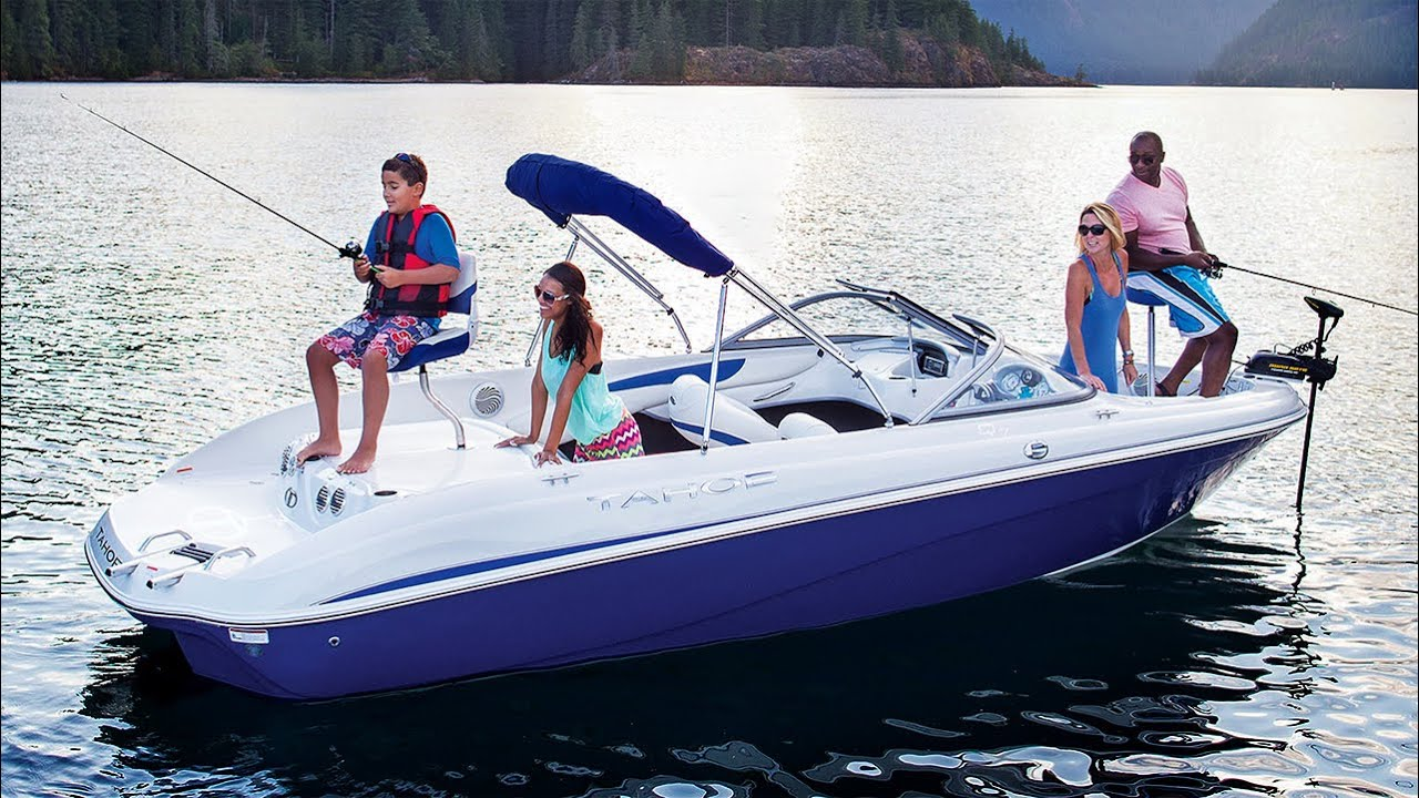 Tahoe boats 2016 q7i sf ski and fish boat youtube for Fish and ski boat