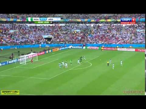 Nigeria 2  vs 3 Argentina - All Goals & Full Highlights World Cup 2014 HD