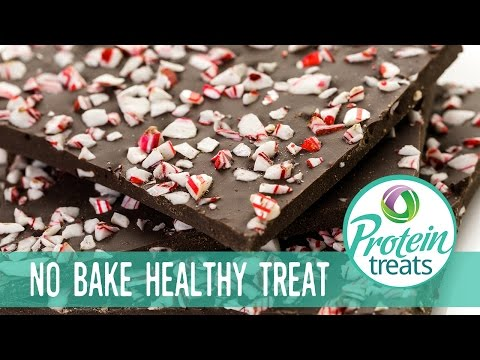Chocolate Peppermint Bark Protein Treats by Nutracelle