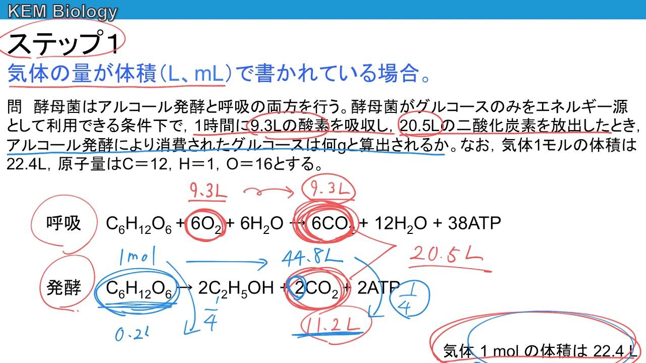 の 式 呼吸 化学 反応