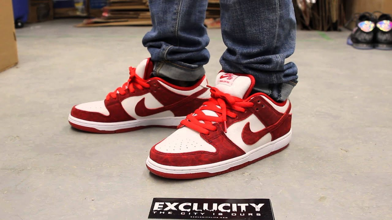 Nike Sb Dunk Low Pro Valentine S Day On Feet Video At Exclucity