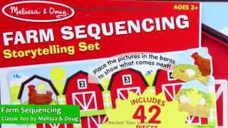 Farm Sequencing Story Telling Classic Toy By Melissa & Doug  Lci  4775