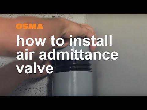How to install air admittance valve - OSMA Soil & Waste