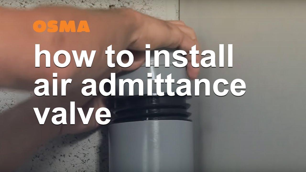 How to install air admittance valve  OSMA Soil & Waste