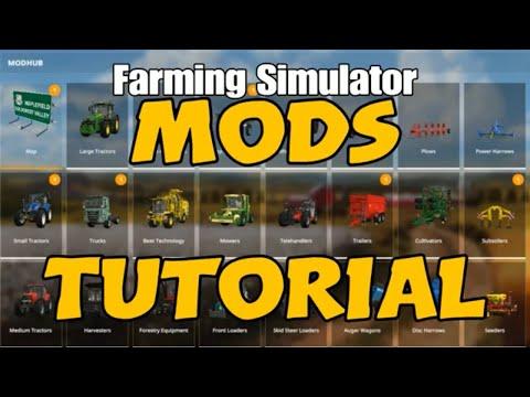 How to install Mods tutorial console farming simulator 17 & 19