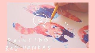 Painting Red Pandas