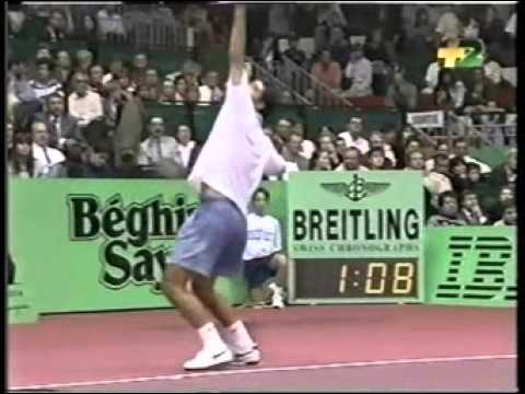Pete Sampras great shots selection against Wayne Ferreira (Lyon 1995 FINAL)