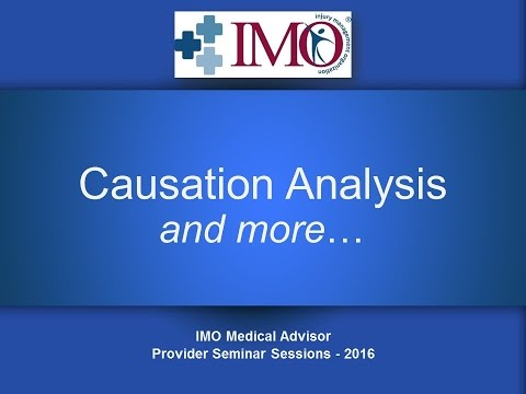 IMO's Provider Education - Causation