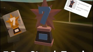 7 visit streak trophy! Roblox-Bloxburg