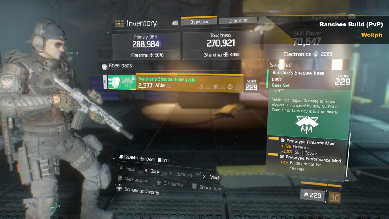 The Division 1.4 Update/ Banshee PvP Build/ 288k DPS/ 270k Toughness on black dog, bloody mary, shadow people, white lady, la llorona, headless horseman,