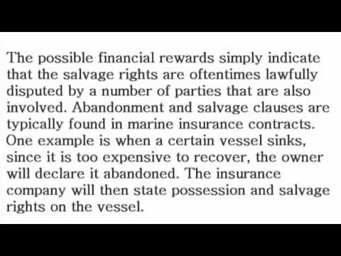Abandonment and Salvage - What is the Definition? - Financial Dictionary by Subjectmoney.com
