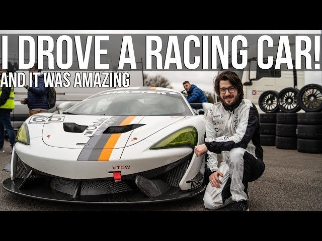 I Got To Drive A REAL Racing Car!!!